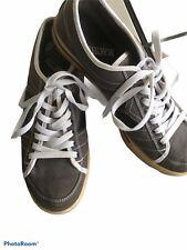 Macbeth Vegan Mens 11Skate Shoes Sneakers Canvas Grey Black Stripes Tennis Shoes