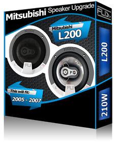 Mitsubishi L200 Portiera Anteriore Altoparlanti FLI Audio Auto Kit 210W