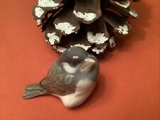 Vintage Small Royal Copenhagen Porcelain Sparrow Bird Nestling Figurine 1519