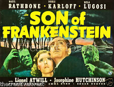 SON OF FRANKENSTEIN, Vintage Movie Poster Repro Rolled CANVAS PRINT 30x24 in.