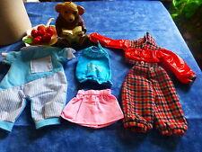 5piéces poupées poupon ,corsage nancy ,ensemble lainage et blouson
