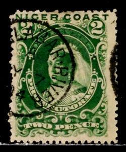 NIGER COAST PROT.: 1893 19TH CENTURY CLASSIC ERA STAMP SCOTT #39 CV $47.50 SOUND
