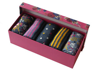 Ladies 5 Pairs Socks Gift Box Christmas Stocking Filler Gift Spring Mother's Day
