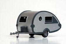 Wiking 1/87 HO Wohnwagen Teardrop Camper Trailer Silver 009239