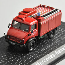 Atlas 1/72th Metal Mercedes-Benz Unimog Fire Truck Car Model Toy Collection