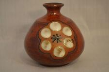 Small Bud Vase Brown Round Vintage Unknown  #CC