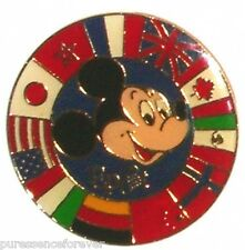 WDW Epcot: Mickey/Circle of World Showcase Flags Pin