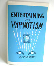 Entertaining with Hypnotism Lesson Course Calostro Mentalist Magic Trick Book