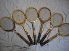 (6) Tennis Racquets   vintage wood rackets