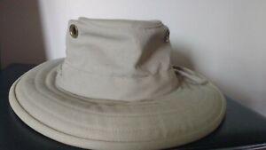 Vintage Tilley Endurables Khaki Cotton Duck Boonie Hat Size 7