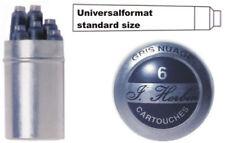 J. Herbin 6 Tintenpatronen rauchgrau, Füller Patrone grau Tintenpatrone 6er Set