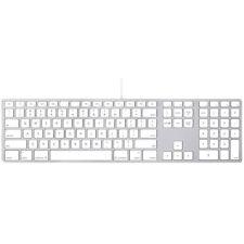New Genuine Apple Aluminium USB Wired Keyboard with Numeric Keypad - US