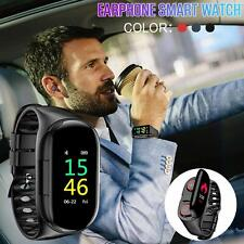 2 in 1 Smart Watch With TWS Earbuds Wireless Bluetooth Headphone Wristband