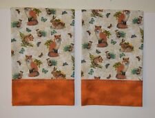 Fox Pillowcases Butterfly Two Handmade standard queen Cotton New Forest Animals