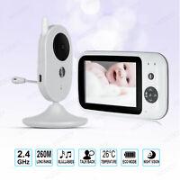 "3.5"" Baby Monitor Camera Color LCD Audio Night Vision Wireless Digital Video"