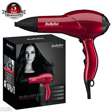 BaByliss 5568BU Salon Light 2100W Professional Lightweight AC Ionic Hair Dryer