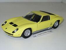 Motormax Lamborghini Miura P 400 S 1:24 Bright Yellow Usa Free Ship