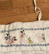 Mickey Minnie Mouse Pluto Baby Crib Bumper Soft Bedding