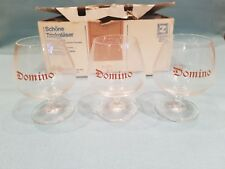 Rare/Collectable Set of 6 German Weinbrand Domino Brandy Snifter Glasses-BNIB