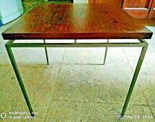 table basse danoise design vintage 60 /80 palissandre et acier