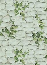 1,77€//1qm Tapete Mauer Kieselstein Efeu beige grau 8344-16