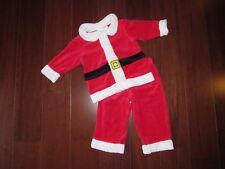 """""""SANTA CLAUS"""" Boys Christmas Clothes Outfit 18m Holiday Santa Clause Pants Set"""