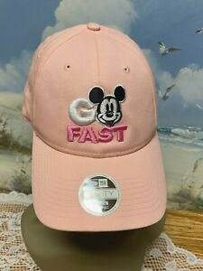 Rare New Era 9Forty Hat/Cap Mickey Mouse ~ Nascar Women's Embroidered Pink New