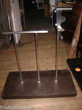 Retail Double Garment T Rack Rolling Clothing Rack