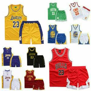 DE Kinder #23 Basketball Trikot Michael Jordan Jerseys Shorts  Weste DE