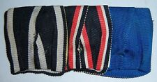 GERMAN - 3 Place Medal Bar. Iron Cross, Flanders Cross, & Blue, Long Service.
