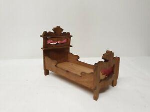 Alt Antik Bett Puppenstube Puppen Puppenhaus Puppenbett
