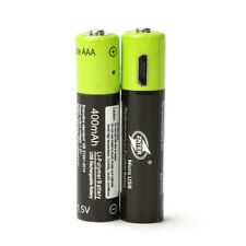 ZNTER 2PCS AAA Lithium Battery 1.5V400MAH Micro USB Charging For RC Camera Drone