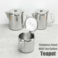 S/M/L Stainless Steel Teapot Catering Cafe Milk Tea Coffee Water Boiling  YI
