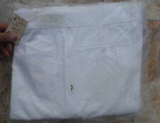 USA Made LANDAU Men's White Work Uniform 34x34 Dress Pants W34 I34