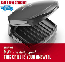 George Foreman 2-Serving Classic Plate Electric Indoor Grill and Panini Press,.B