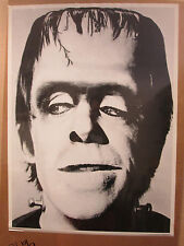 Vintage Herman Munster original tv show black and white poster 10240