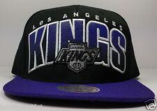 Los Angeles Kings Mitchell & Ness Double Bonus Black Vintage Snapback Hat NHL