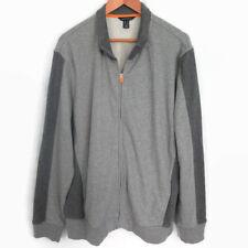 Lands End Men's 5XL Jacket gray Two Tone Full Zip Cotton size 5XL