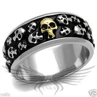 Men's Stainless Steel Skull Ring Band Size 8 9 10 11 12 13 TK2235