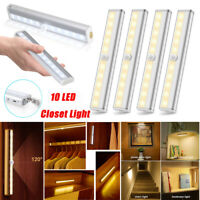 10LED PIR Motion Sensor Closet Light Wireless Night Cabinet Lamp Battery Powered
