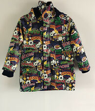 LIFE AND LEGEND BOYS COLOURFUL COMIC FLEECE LINED MAC - Size UK4-5YRS/104/110CM