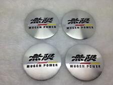 4X Fit  MUGEN POWER WHEEL CAPs Alloy  Racing EMBLEM Badges Stickers 56mm NEW 3D