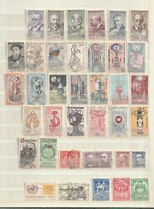 Tchécoslovaquie - Ceskoslovensko: Lot de timbres anciens (cf scan) Lot G