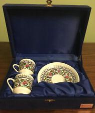 Turkish Gural Porselen Demitasse Espresso Cup Saucer Set of 2 Porcelain China