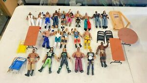 WWE Elite figures including APA set 22 figures w/ accessories