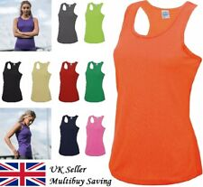 Ladies Cool Wicking Breathable Gym Running Training Vest Shirt Top AWDis JC015