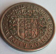 1950 New Zealand George VI Half-Crown