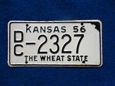 Vintage Original KANSAS 1956 DC 2327 License VEHICLE Tag Man Cave Reissue.