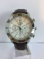 Pulsar Men's Chronograph Date Display Brown Leather Strap Sports Watch PT3433X1