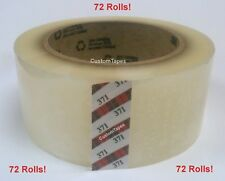 "3M 371 Scotch brand Clear Carton Sealing Tape 2"" x 110yd  - 72 Rolls - Best $!"
